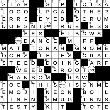 0709 20 Ny Times Crossword 9 Jul 20 Thursday Nyxcrossword Com