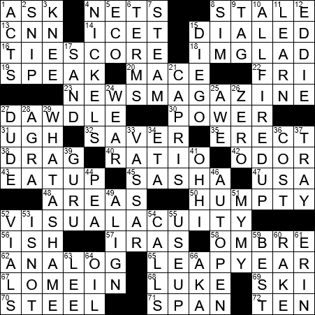 0721 20 Ny Times Crossword 21 Jul 20 Tuesday Nyxcrossword Com