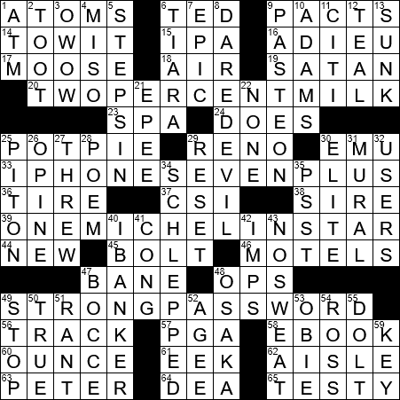 0729 20 Ny Times Crossword 29 Jul 20 Wednesday Nyxcrossword Com
