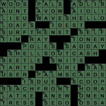 0817 20 Ny Times Crossword 17 Aug 20 Monday Nyxcrossword Com
