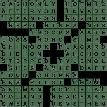 0829 20 Ny Times Crossword 29 Aug 20 Saturday Nyxcrossword Com