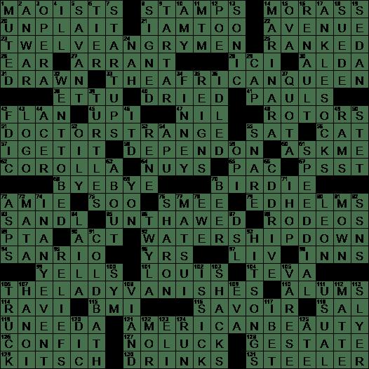 0816 20 Ny Times Crossword 16 Aug 20 Sunday Nyxcrossword Com