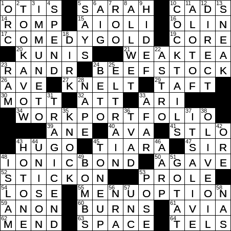 0826 20 Ny Times Crossword 26 Aug 20 Wednesday Nyxcrossword Com