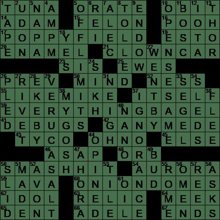 1105 20 Ny Times Crossword 5 Nov 20 Thursday Nyxcrossword Com