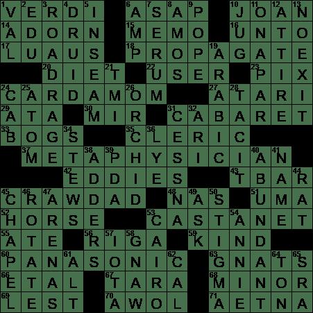 0928 20 Ny Times Crossword 28 Sep 20 Monday Nyxcrossword Com