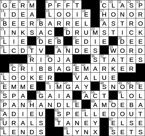 0924 20 Ny Times Crossword 24 Sep 20 Thursday Nyxcrossword Com