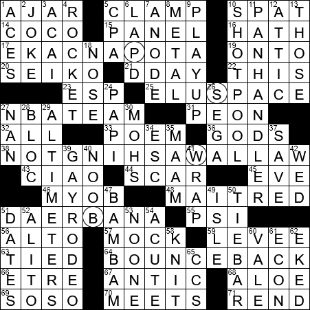 0903 20 Ny Times Crossword 3 Sep 20 Thursday Nyxcrossword Com