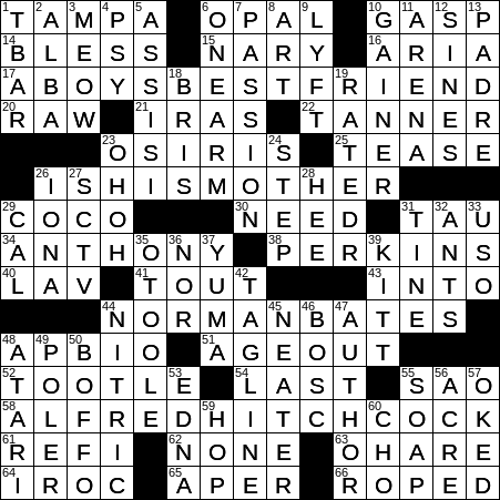 0908 20 Ny Times Crossword 8 Sep 20 Tuesday Nyxcrossword Com