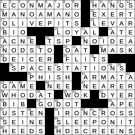 1009 20 Ny Times Crossword 9 Oct 20 Friday Nyxcrossword Com