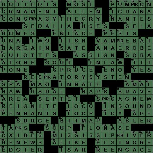 1011 20 Ny Times Crossword 11 Oct 20 Sunday Nyxcrossword Com