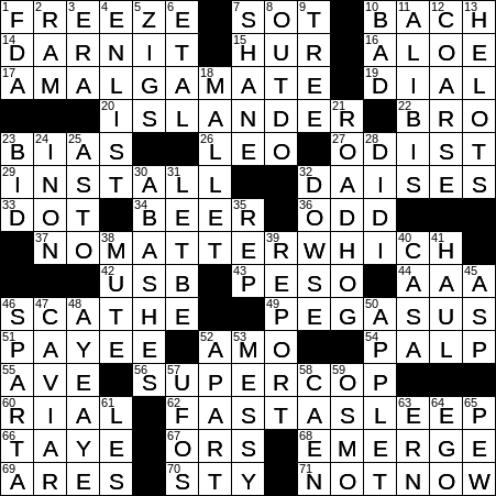 1029 20 Ny Times Crossword 29 Oct 20 Thursday Nyxcrossword Com