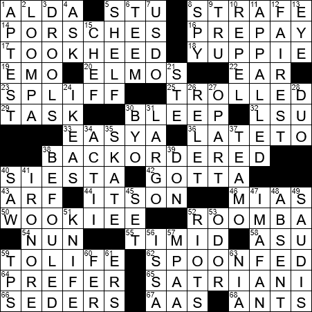 1020 20 Ny Times Crossword 20 Oct 20 Tuesday Nyxcrossword Com