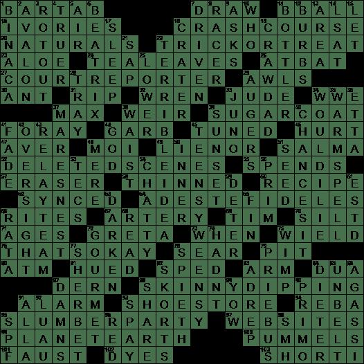 1115 20 Ny Times Crossword 15 Nov 20 Sunday Nyxcrossword Com