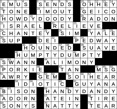 1103 20 Ny Times Crossword 3 Nov 20 Tuesday Nyxcrossword Com